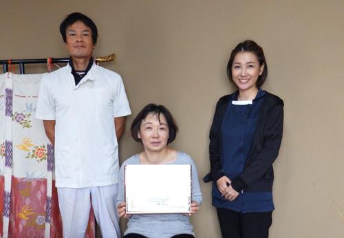 和歌山市よりボディケアマッサージの民間資格をボディケアスクールへ受講されました。