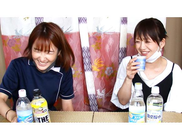 リラクゼーションスクール生徒さんと炭酸水飲み比べ