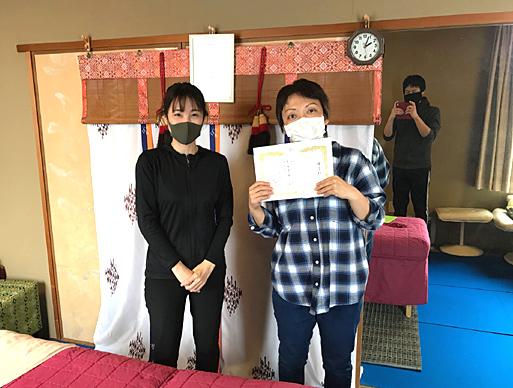 愛知県よりリンパマッサージ講座